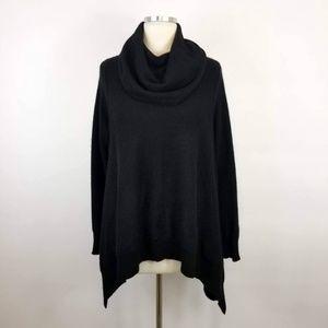 35b3b6c9fc2 Bloomingdales Black Cashmere Sweater Sharkbite Hem